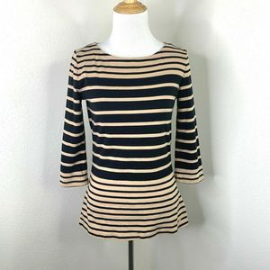 Tommy Hilfiger Striped Shirt Boat Neck Top